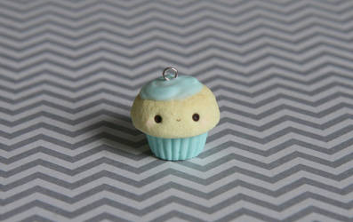 Mint Kawaii Cupcake Charm by xoxRufus