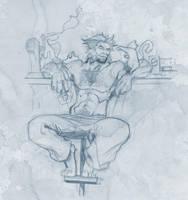 Wolverine vs a cat...Sketch by Rulzdemol