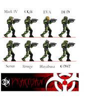 Halo Spartan sprites by Drakojan14