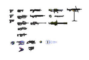 Halo Weapons by Drakojan14