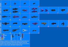 Halo Weapon Sprite Sheet 2 by Drakojan14