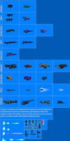 Weapon Sprite Sheet 3 by Drakojan14