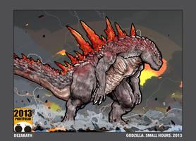 2013.Godzilla.Small Hours by Dezarath
