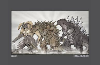 Godzilla. Wolves. 2013 by Dezarath