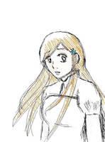 Inoue Orihime -sketch_oekaki- by HeartlessTira