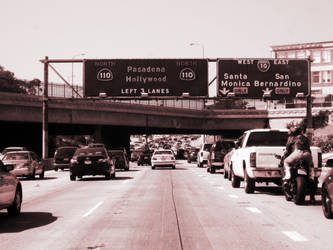 Traffic on the 110 by thisisanton