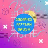 Memphis Pattern Brush #2 by eisya99cute
