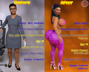 Complete transformation of Mrs. Jackson by SaidNuffman