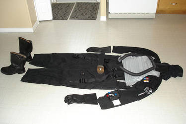 Tie pilot costume in the works by jdlr64