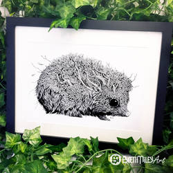 Leaf Hedgehog - Animal and Bird Ink Collection by BMiley