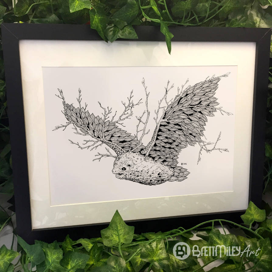 Leaf Bat - Animal and Bird Ink Collection by BMiley