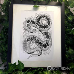 Leaf Adder - Animal and Bird Ink Collection by BMiley