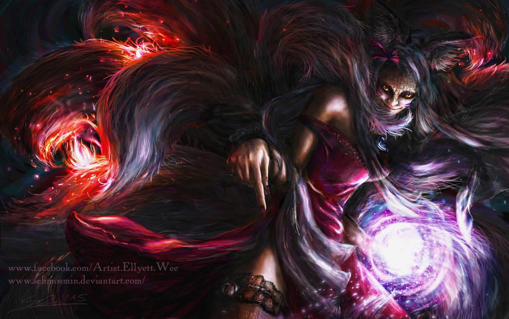 Femme Fatale Ahri by Schmosmin