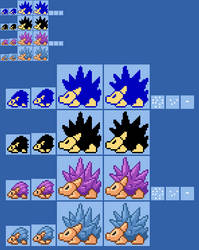 SMW2 YI Harry Hedgehog (NES and SMAS SMB2 style) by ericgl1996
