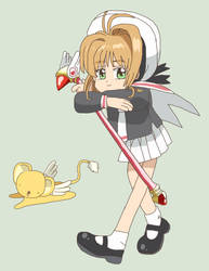 Old Cardcaptor Sakura artwork in Clear Card style by ericgl1996