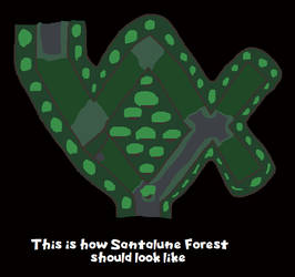 My redesign version of Santalune Forest by ericgl1996