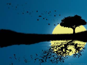 tree reflection by vxside