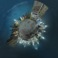 Snowy night - Tiny Planet v1 by vxside
