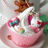 Fairy Kitty Cupcake Necklace by AndyGlamasaurus