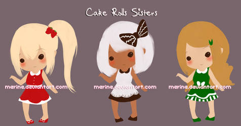 Adoptables: Cake Rolls Sisters [REDUCED PRICE] by merrine
