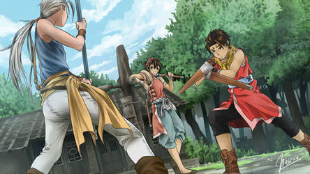 Genso Suikoden II by hoseou