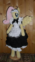 fluttershy anthro plushie maid dress by FluttershyAP