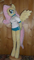 fluttershy anthro plushie gym suit by FluttershyAP