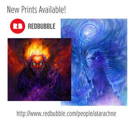 New Print Options On My Redbubble! by Sirenophilia