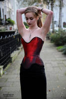 Henriette, red corset 7 by PhotographyThomasKru