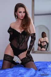 Jana in black lingerie 3 by PhotographyThomasKru
