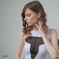 Muriel in a white dress 2 by PhotographyThomasKru