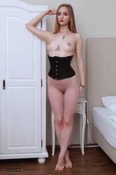 Henriette, black corset by PhotographyThomasKru
