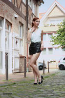 Lisa in black miniskirt 8 by PhotographyThomasKru