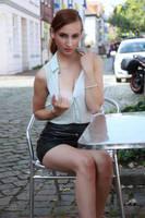 Lisa in black miniskirt 21 by PhotographyThomasKru