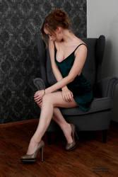 Henriette in a green dress 4 by PhotographyThomasKru
