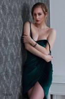 Henriette in a green dress 19 by PhotographyThomasKru