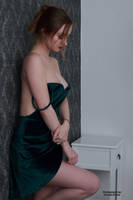 Henriette in a green dress 21 by PhotographyThomasKru
