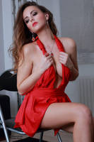 Jana at red dress 35 by PhotographyThomasKru