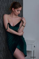 Henriette in a green dress 24 by PhotographyThomasKru