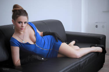Jana in blue dress 3 by PhotographyThomasKru