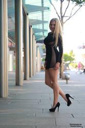 Vanessa in black dress 7 by PhotographyThomasKru