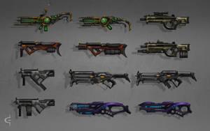 Gun concepts by Earl-Graey