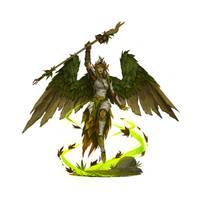 Gathlain Sorceress by Earl-Graey