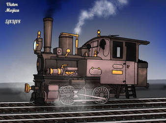 0-4-0 Forney Locomotive by The-Victor-Catbox