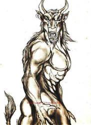 The Cretan Minotaur by enochian69