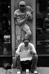 Beggar in NY by lecgreg