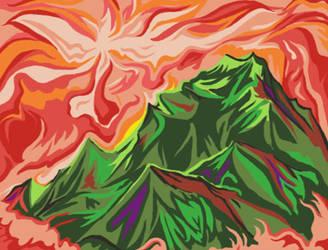 Mountains, Digital Redux by unshakentomato