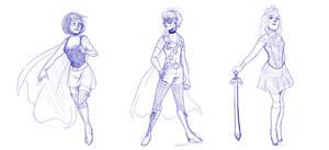 Superhero Disney Princesses by DeathByBacon