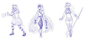 Superhero Disney Princesses 2 by DeathByBacon