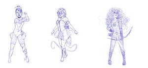 Superhero Disney Princesses 6 by DeathByBacon